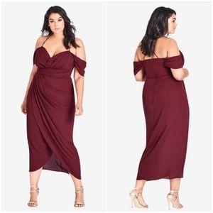 🆕City Chic Entwine Maxi Dress in Merlot (XS/14)
